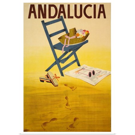 Great BIG Canvas   Rolled Vintage Apple Collection Poster Print entitled Andalucia - Vintage Travel Advertisement