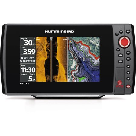 Humminbird helix 9 si gps kvd fishfinder combo with side for Side imaging fish finder