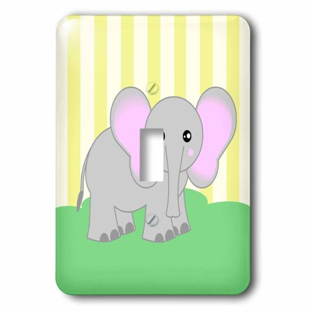 3dRose Baby Animals – Elephant - Single Toggle Switch (lsp_6351_1)