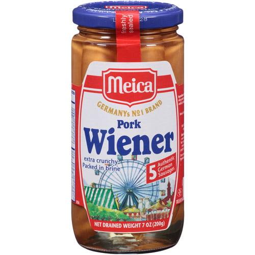 Meica Pork Wieners, 7 oz, (Pack of 12) by Generic
