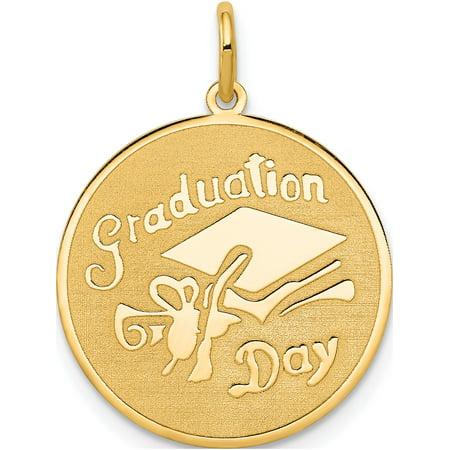 14k or jaune Graduation Day Disc (18x25mm) Pendentif / Breloque - image 1 de 1