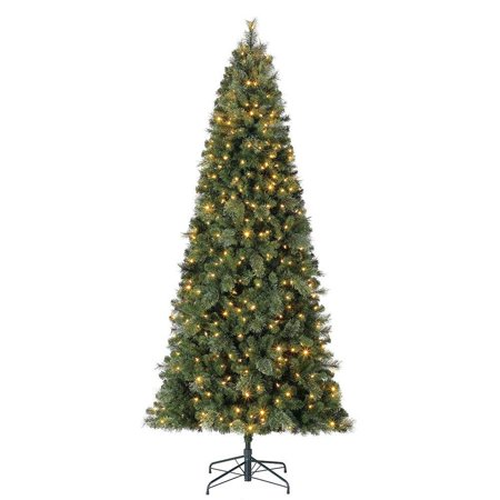 Home Heritage 9' Cascade Cashmere Quick Set Christmas Tree and Changing (9 Foot Christmas Tree With Changing Lights)