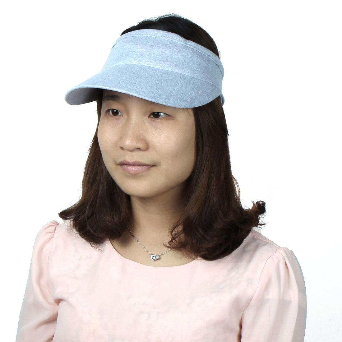 Ladies Summer Outdoor Running Golf Tennis Sports Casual Sun Visor Cap Light Gray