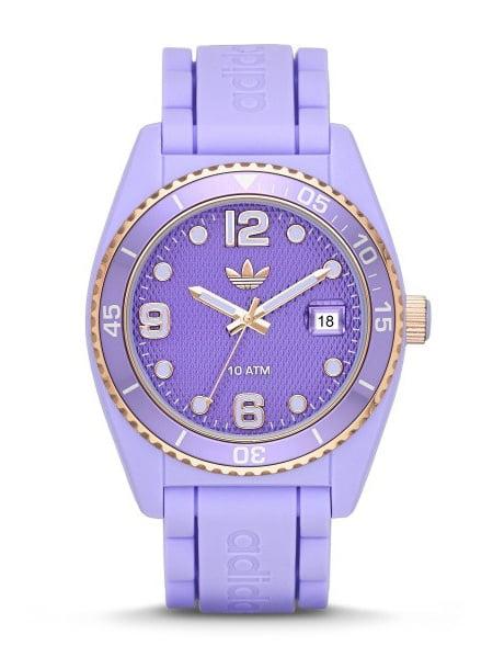 Adidas adh2938 42mm Polyurethane Case Purple Polyurethane Mineral Men's & Women's Watch by Adidas
