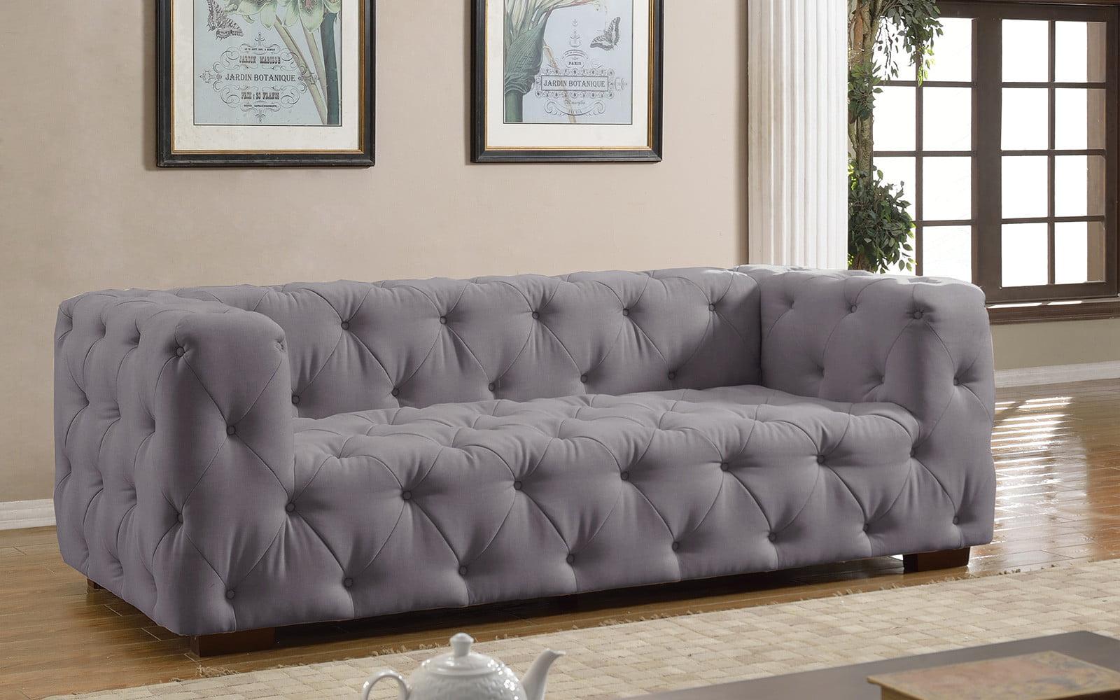 Luxurious Modern Large Tufted Linen Fabric Sofa   Walmart.com