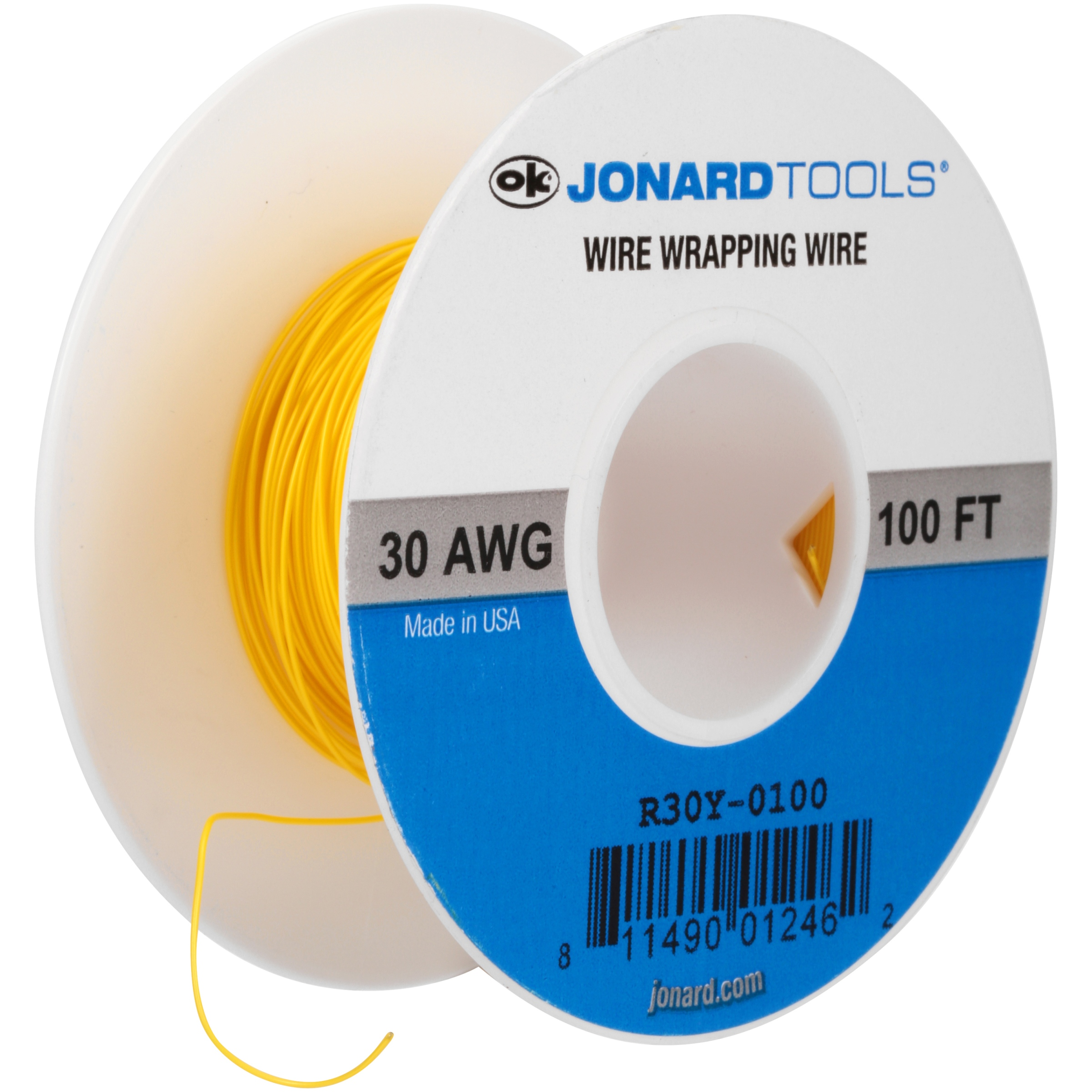 Jonard Tools® Yellow 100 ft. 30 AWG Wire Wrapping Wire