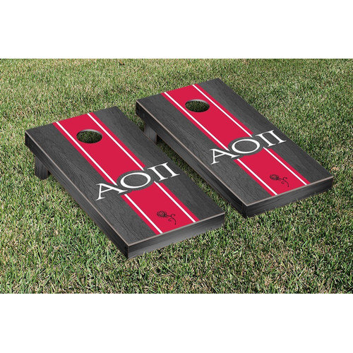 Victory Tailgate Alpha Omicron Pi Stained Cornhole Game Set