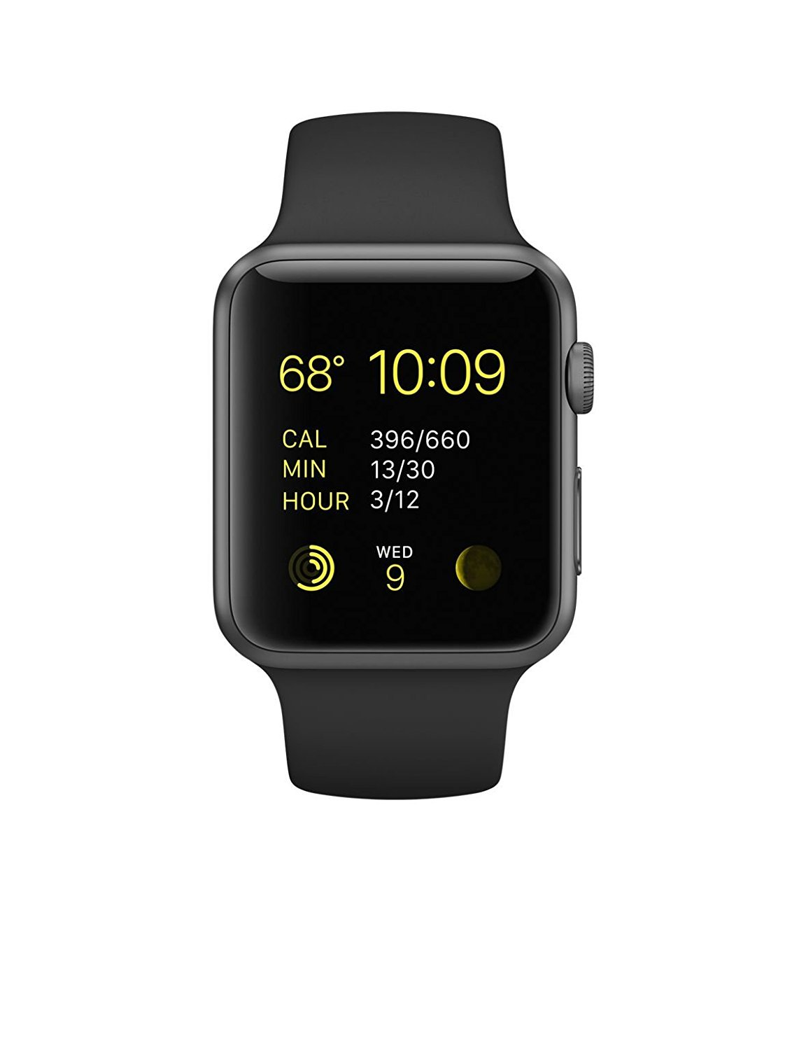 Like New Watch Series 1 42MM Space Gray Aluminum Case Black Sport Band