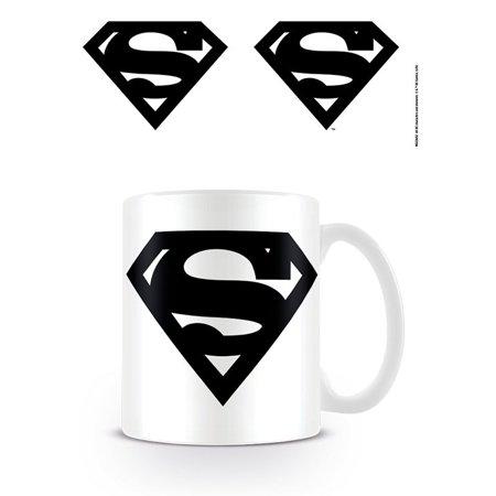 Superman - DC Originals - Ceramic Coffee Mug / Cup (Superman Logo / The House Of El - B&W)