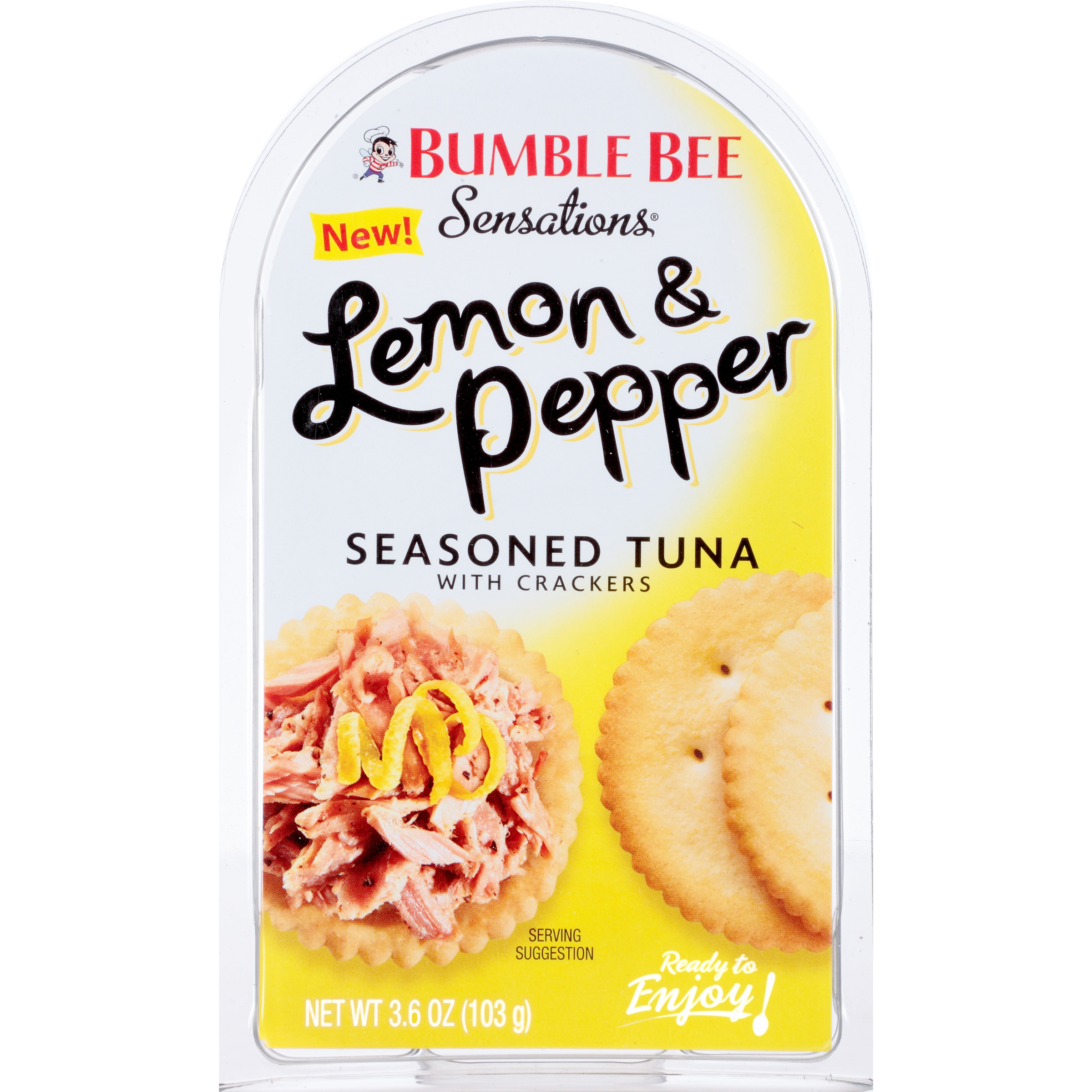 Bumble Bee Sensations Lemon Pepper Flavored Tuna with Crackers, 3.6oz kit