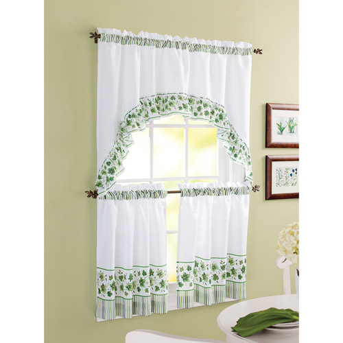 Better Homes and Gardens Ivy Tier Window Set, Green