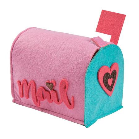 Fun Express - Valentine Heart Mail Box for Valentine's Day - Home Decor - Decorative Accessories - Home Accents - Valentine's Day - 1