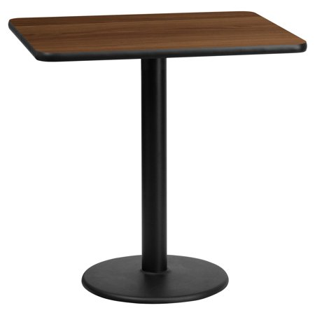 "Flash Furniture 24"" x 30"" Rectangular Laminate Table Top with 18"" Round Table Height Base, Multiple Colors"