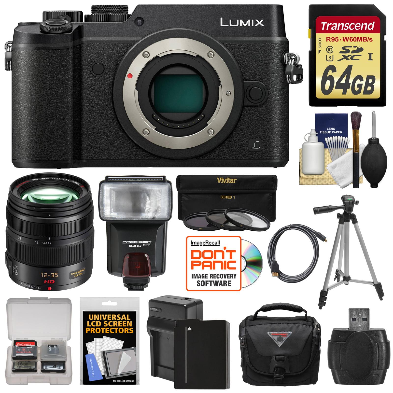 Panasonic Lumix DMC-GX8 4K Wi-Fi Digital Camera Body (Black) with 12-35mm f 2.8 OIS Lens + 64GB Card + Battery... by Panasonic