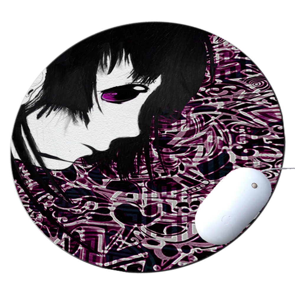KuzmarK Round Mousepad / Hot Pad / Trivet - Anime Fairy
