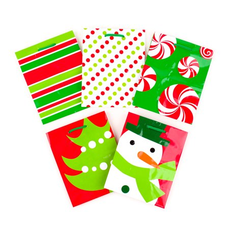 Red And White Gift Bags (Hallmark Small Holiday Gift Bags, Red & Green Icons (Pack of)