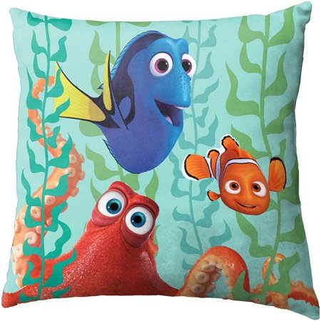 12 Inch Square Toss Pillow - Disney Pixar Finding Dory/Nemo with Octopus 12