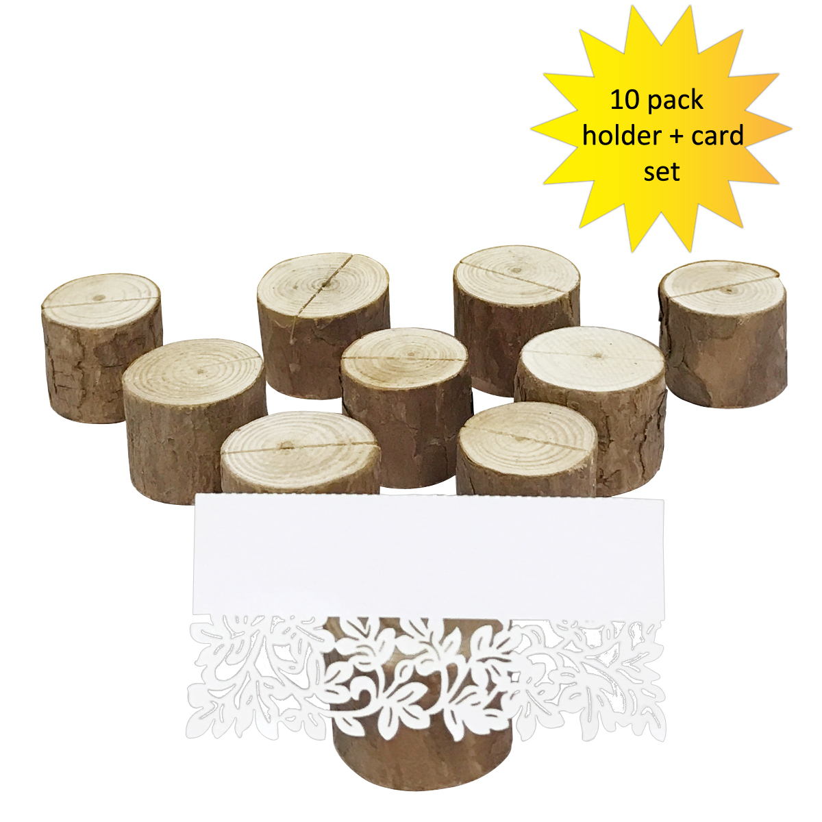 wrapables rustic wooden placecard holders with table name place cards for wedding
