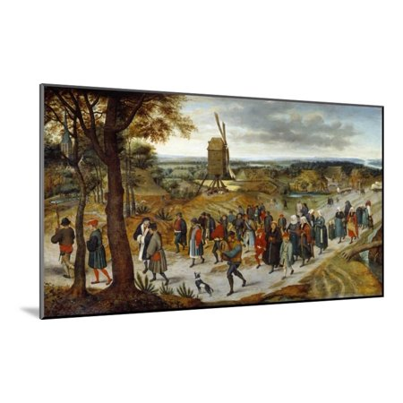 The Wedding Procession by Pieter Brueghel the Younger Wood Mounted Print Wall Art](Wedding Procession)