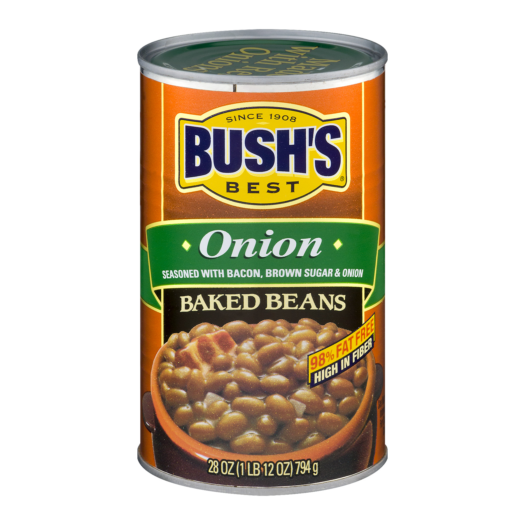 (4 Pack) Bush's Best Onion Baked Beans, 28 Oz