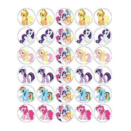My Little Pony Cupcake Toppers Edible Wafer Paper BUY 2 GET 3RD FREE - My Little Pony Cupcake Topper
