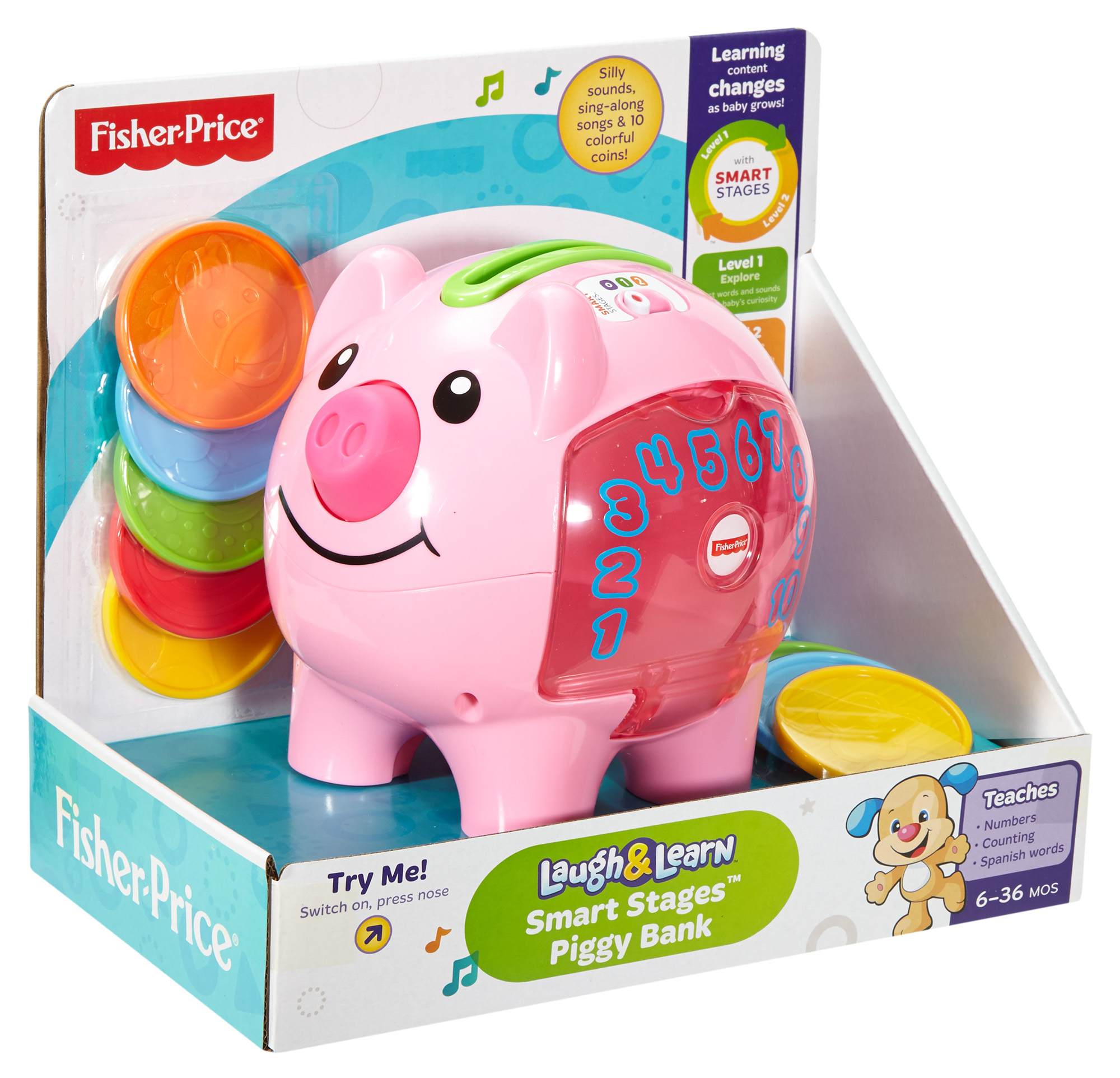 Fisher Price Laugh & Learn Count and Learn Piggy Bank Walmart