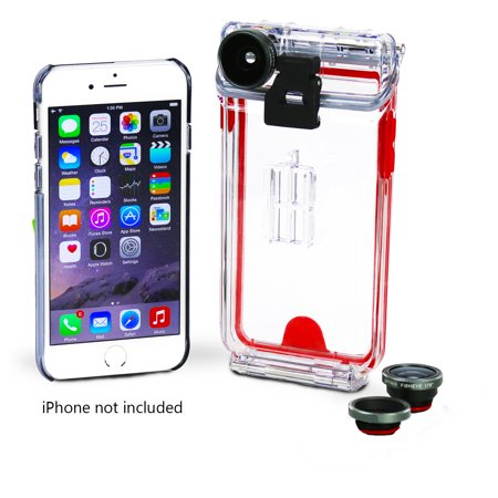 Body Glove Optrix Apple iPhone 6/6s Interchangeable 2 Lens Kit Waterproof Case