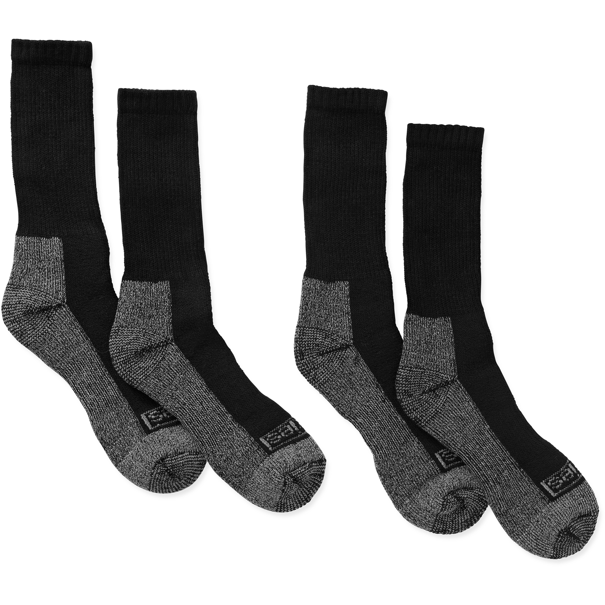 Men's Steel Toe Crew Socks, 2-Pack