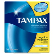 Tampax Regular Absorbency Tampons with Flushable Applicator 20 ct
