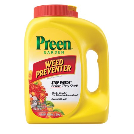 Preen Garden Weed Preventer, 5.628 lb covers 900 sq.