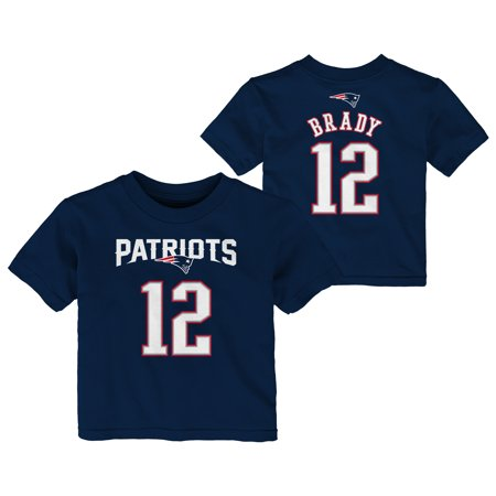 New England Patriots Number (Tom Brady New England Patriots Preschool Mainliner Name & Number T-Shirt - Navy)