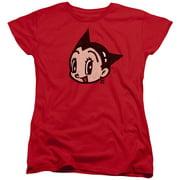 Astro Boy Face Womens Short Sleeve Shirt