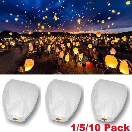 10XSky Flying Paper Lanterns Lucky Light Wedding Anniversary Celebration Party - Chinese Flying Lanterns