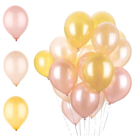 Ella Celebration Rose Gold Champagne And Gold Party Balloons Set