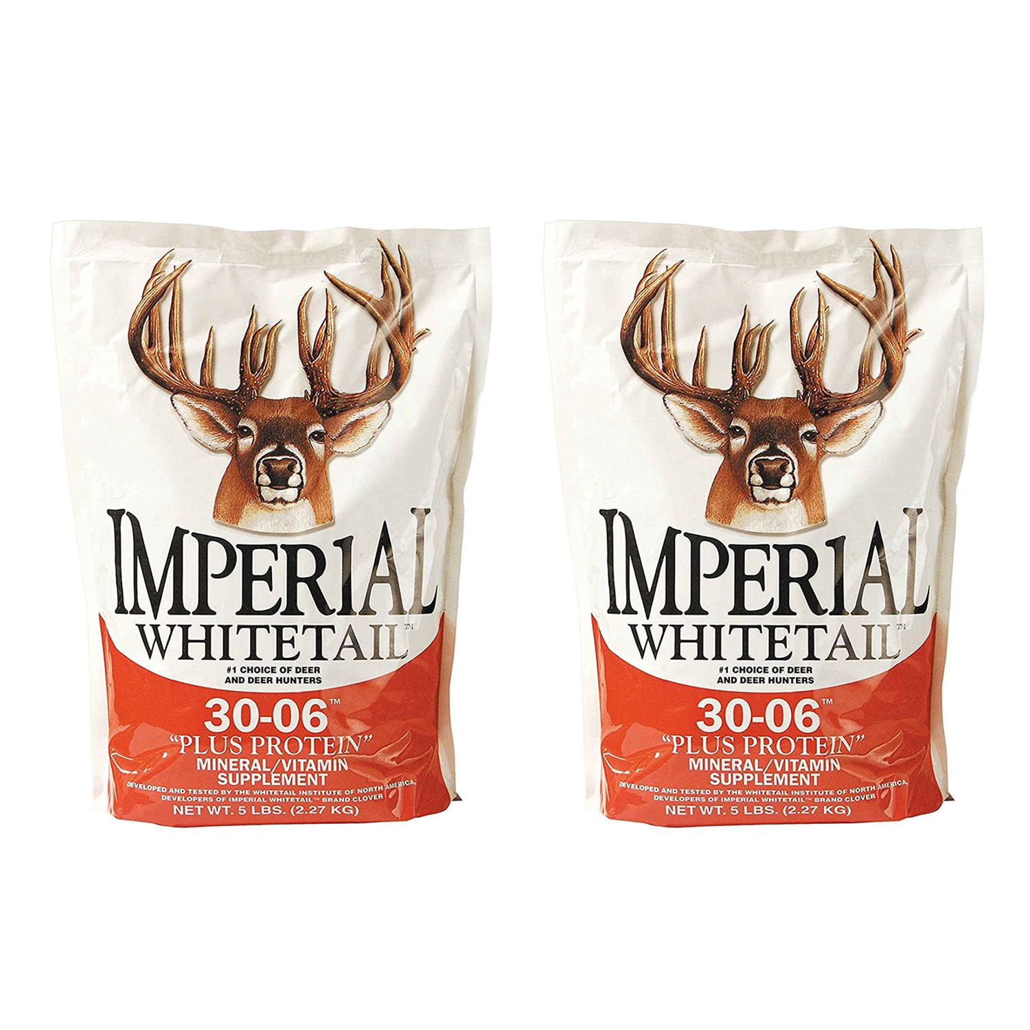 20 lbs 2 Pack Whitetail Institute 30 06 Mineral Vitamin Plus Protein Deer Attractant Supplement Spread