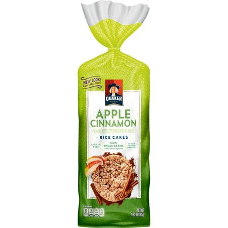 Quaker ® Apple Cinnamon Rice Cakes, 6.53 oz. Bag