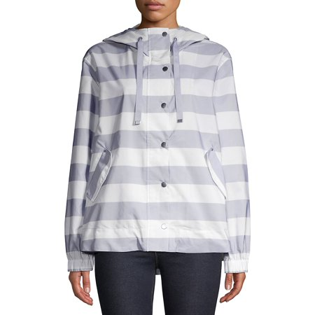 Striped Hooded Anorak - Marc New York Hooded Coat
