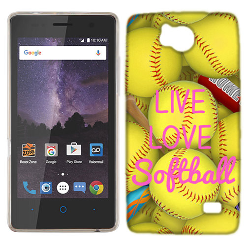 MUNDAZE Live Love Softball Case Cover For ZTE Majesty Pro / Majesty Pro PLUS
