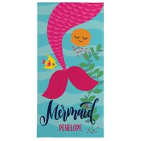 Personalized Just a Mermaid Beach Towel - Available in 3 Colors