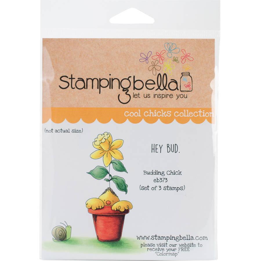 "Stamping Bella Cling Stamp, 6.5"" x 4.5"", Budding Chick"
