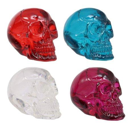 Ebros Translucent Witching Hour Gazing Skull Miniature Figurine 2.5