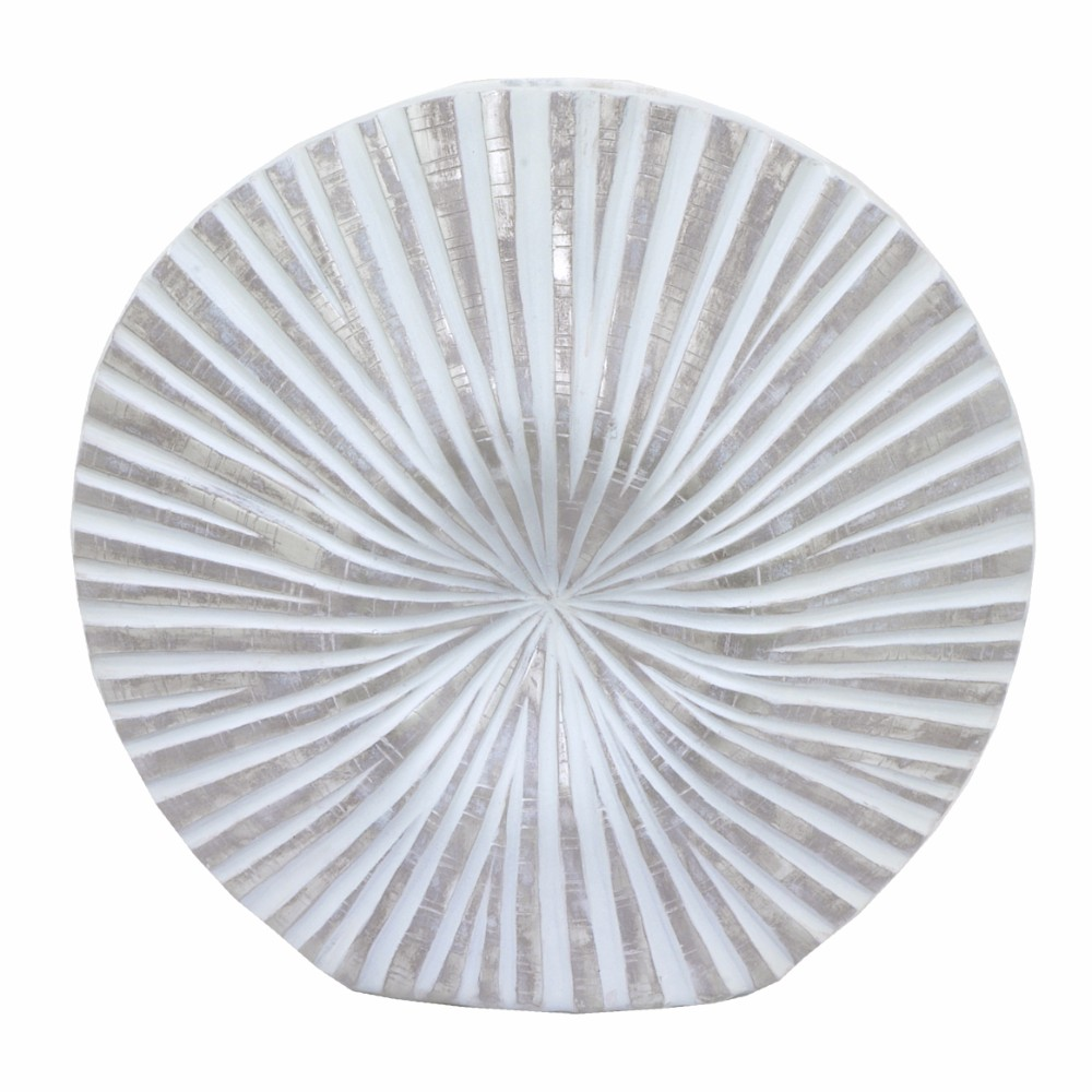 Trendy White Wash Decorative Vase - Benzara
