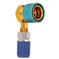 Hilitand R1234YF to R134A Auto Air Conditioning Refrigerant Coupling Right Angle Simple Liquid Connection,R1234YF Quick Coupler,Air Conditioning Adapter