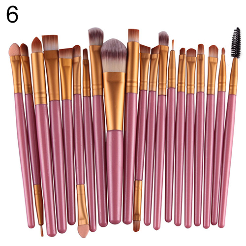 20X Makeup Set Powder Foundation Eyeshadow Eyeliner Lip Cosmetic Beauty Brushes