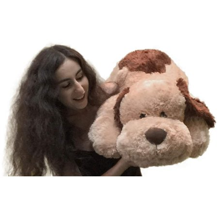 large stuffed puppy dog 36 inches big plush soft brown stuffed animal. Black Bedroom Furniture Sets. Home Design Ideas