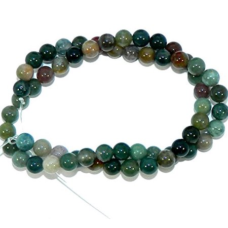 - 6mm Fancy Jasper AKA Blood Agate Natural Round, Loose Beads, 40cm 15 inch Stone