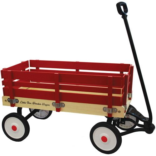 "Little Box 34"" Wooden Wagon"
