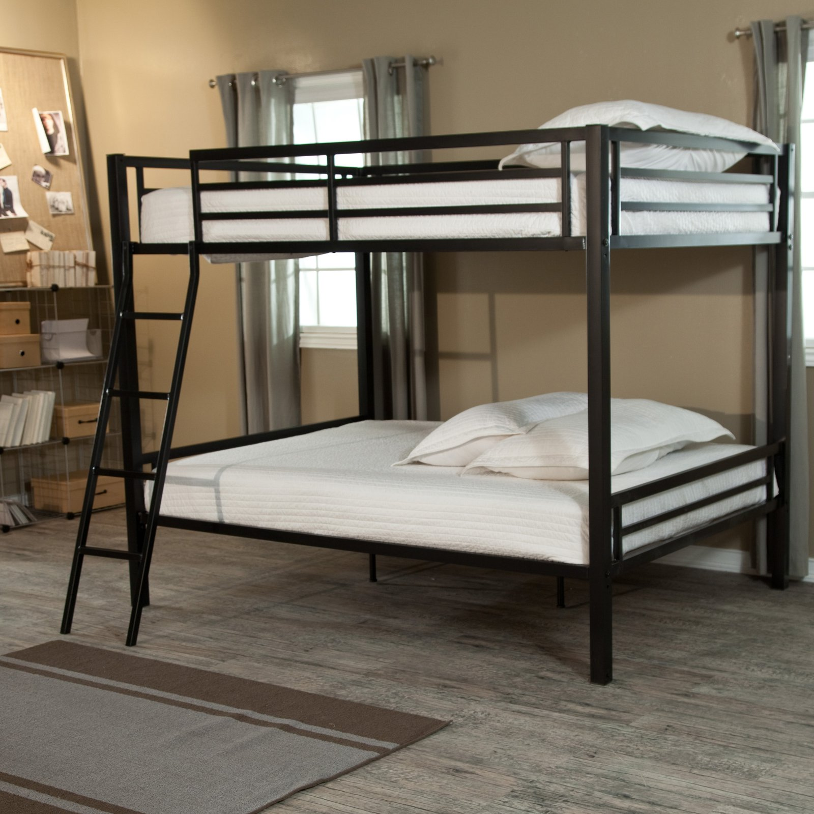 Duro Hanley Full over Full Bunk Bed - Black - BE1655BLK-KD SLT