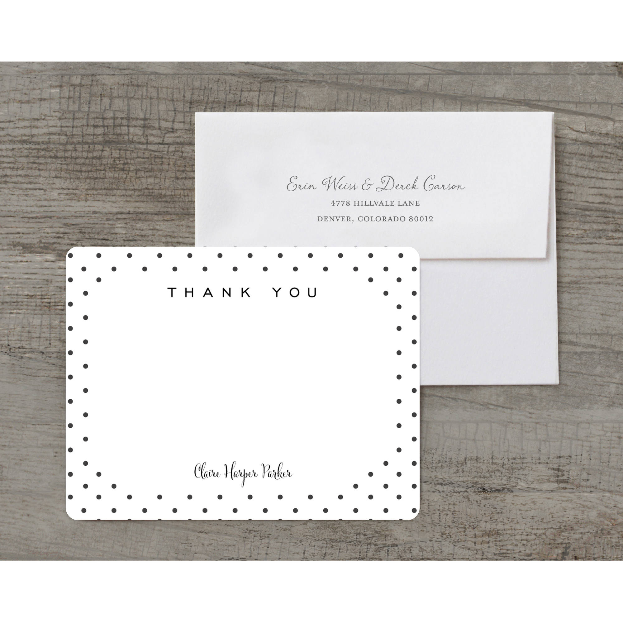 Dotted Deluxe Thank You Card