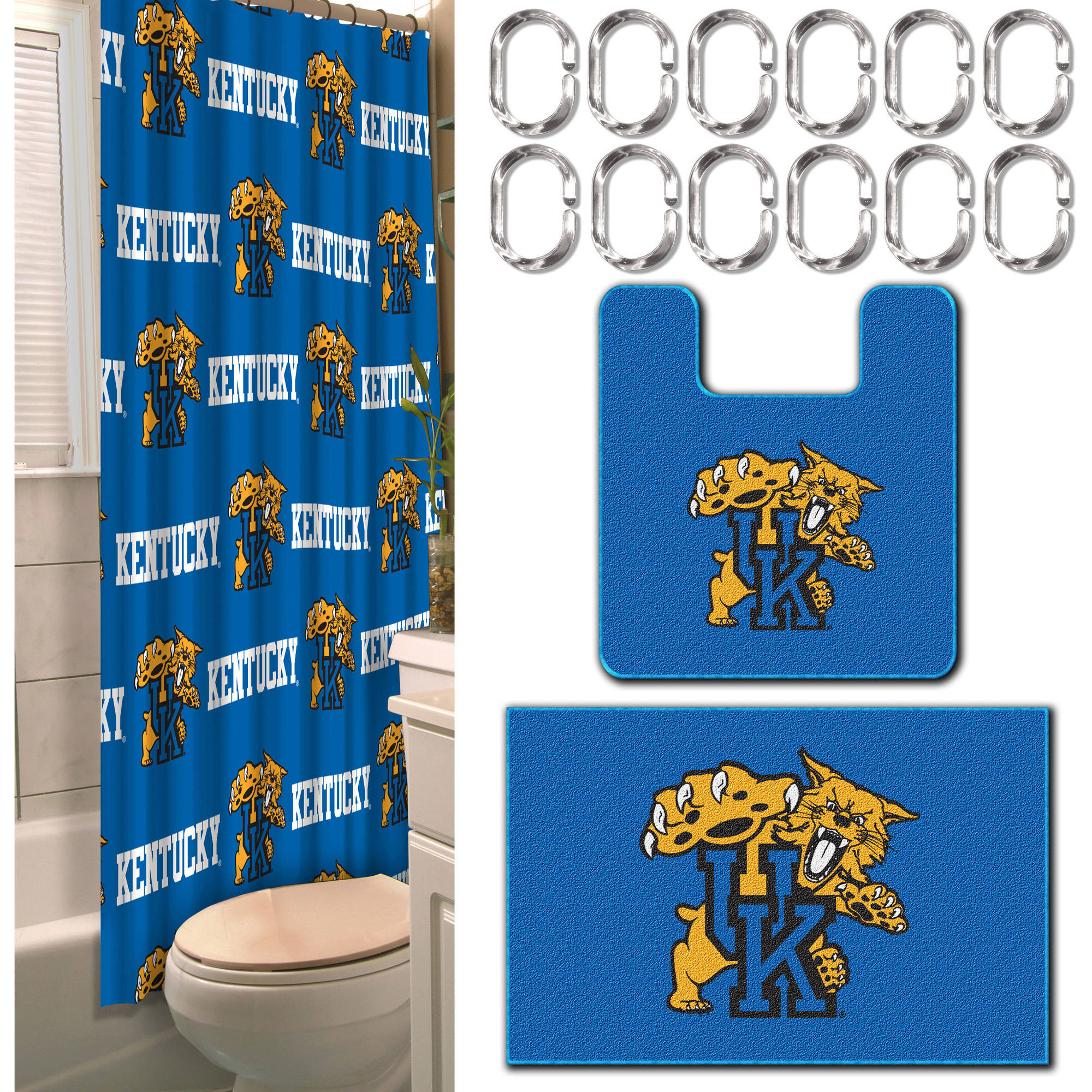 Kentucky Wildcats NCAA 15-Piece Bath Set